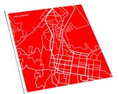Wellington, NZ City Map / New Zealand Wall Art Line Drawing / 8x10 Art Print / Personalized colors