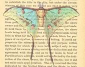 Vintage Moth Print on Antique Book Page