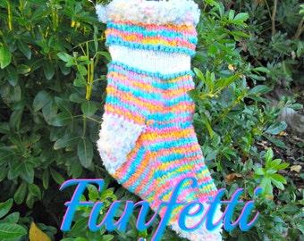 Baby Christmas Stockings, Confetti Rainbow Christmas Stocking