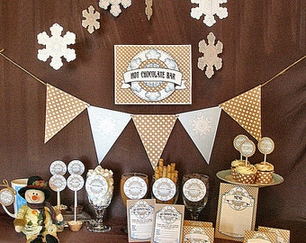 Hot Chocolate Bar Printable Party Pack Kit Instant Download