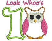 Owl Applique, Owl Birthday, Applique Number, Embroidery Designs (513) Instant Download