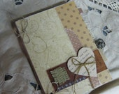 MTO Unique Mini Scrapbook Album with Embellishments on Inside Pages For Journaling/Notebook for photos, memorabilia & memory keeping
