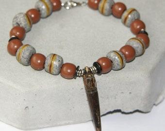 Mens African Beaded Bracelet
