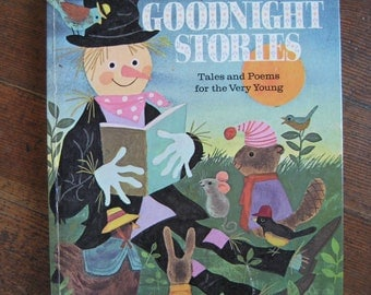 Vintage Children's Book - 366 Goodnight Stories Tales and Poems for the Very Young (A Golden Book)