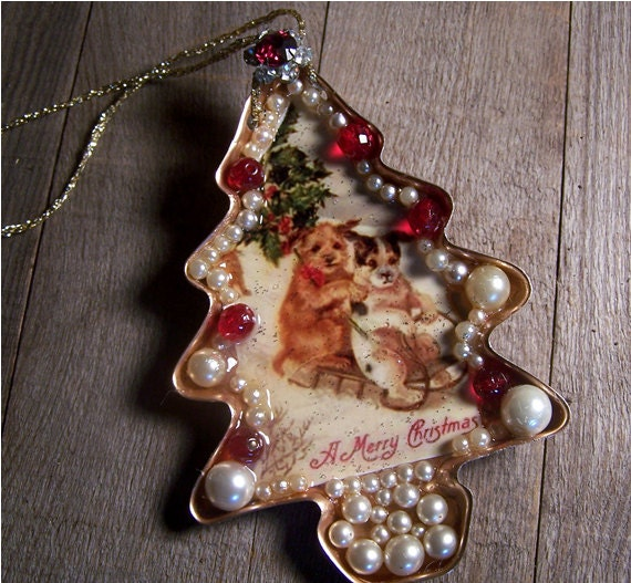 Items similar to Christmas Dogs Cookie Cutter Ornament ...