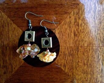 Amber Deposits  -  earrings