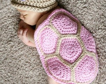 Turtle Shell and Hat  - Crochet Pattern 103 - US and UK Terms - Instant Download