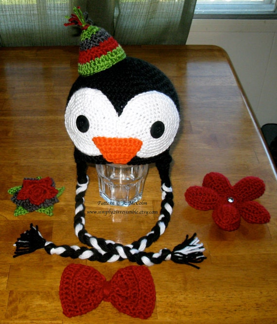 Items similar to Penguin Hat Pattern - Crochet Pattern 35 ...