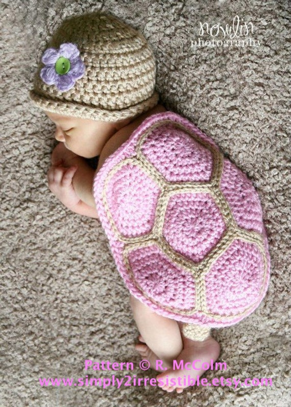 Crochet Baby Turtle Hat And Shell Pattern Free : Turtle Shell and Hat Crochet Pattern 103 US and UK Terms
