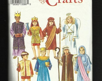 Simplicity 8153 Nativity Costumes for Kids   King Angel and More Sizes S M L