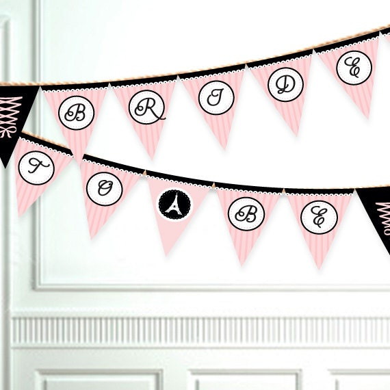 Diy Wedding Word Banners: Items Similar To Bridal Or Bachelorette Shower Banner