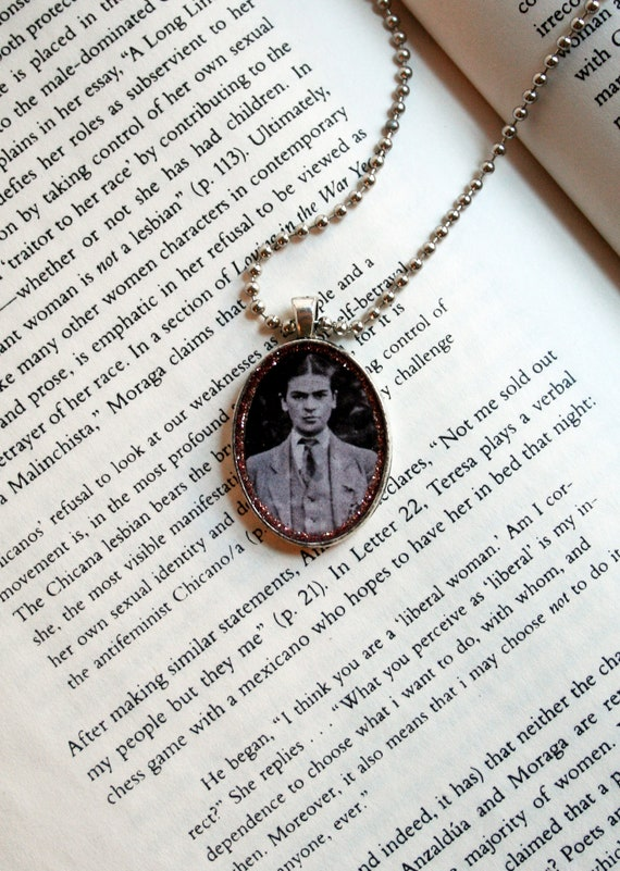 Frida Kahlo in Man's Suit - Pendant Necklace