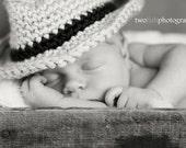 Baby Fedora, Bucket, Fisherman's Hat, Crochet Hat, Photography Prop, Photo Prop, Boy, Girl, MADE TO ORDER