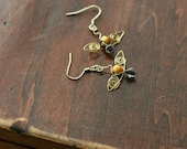 Golden Snitch wire-wrapped earrings