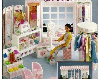 Fashion doll house in plastic canvas pattern by grammysyarngarden