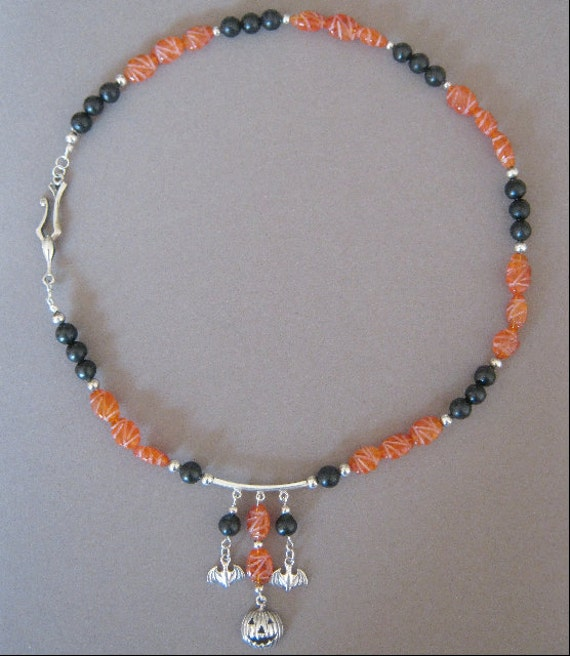 All Hallows Queen Sterling Silver Charm Necklace and Earring Set OOAK