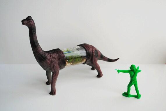 Brachiosaurus Dinosaur Terrarium Live