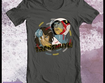 Transmute Battle of the Planets tshirt - Mens Gatchaman tshirt