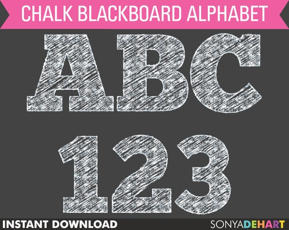 80% OFF Sale Chalkboard Alphabet, chalkboard clipart, chalk clipart, chalk alphabet, digital chalk, chalk letters, teacher clipart