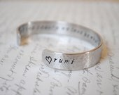 Let the Beauty We Love Be What We Do-Rumi Secret Message Hand Stamped Bracelet- Personalized Bracelet