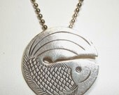 Hill Tribes silver coi fish pendant necklace