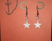 Star Earrings: Small Silver Star Dangle Earrings