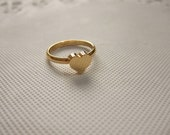 24k Gold Plated Heart Ring - adjustable