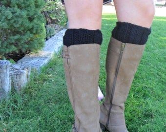 Black Boot Cuffs--Vegan Value