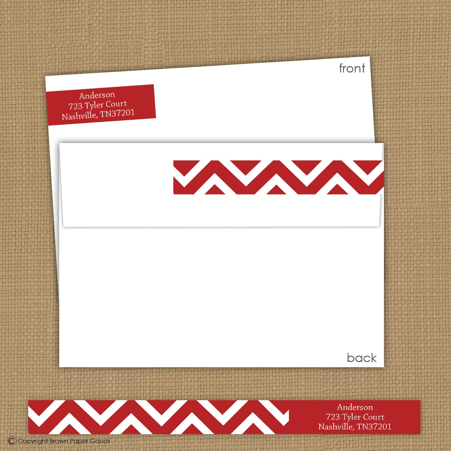 Wrap Around Return Address Labels Chevron Return Address
