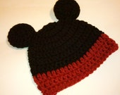 Mickey Mouse Hat - Baby hat , Photography Prop, newborn hat, child hat