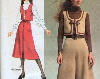 Simplicity 9102 sewing pattern // Misses' Super Jiffy Vest, Midi Pantskirt and Midi Skirt