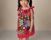 Pillowcase Dress - Flower Shower Dress - 2 Layers Trim - Boutique Dress Pattern - Girls Dress - Summer - KK Children Designs - 12M to 6T