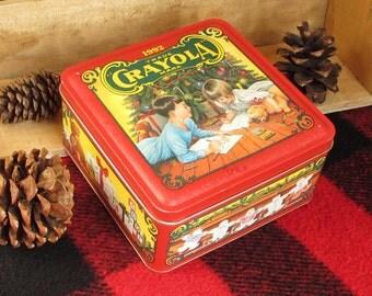 1992 Crayola Christmas Vintage Crayon Tin