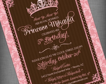 Princess Customized Printable Invitation