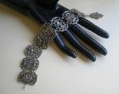 SALE-Moroccan Tourist Souvenir Bracelet, silvertone, camel, sword, adjustable-sale use coupon SALE10OFF