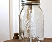 "Modern Country Bathroom Mason Jar Soap Dispenser (32oz) ""Dolores"" jar - TheHoneyShack"