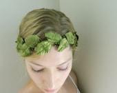 Greenleaf Woodsy Hair Piece - Rustic Bride Hair Accessory - Green Hair Vine - Woodsy Weddings