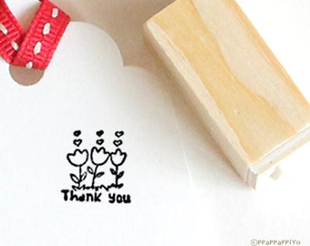 Thank you small Rubber Stamp