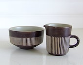 Danish Cream and Sugar Set - Amazonas from BR Pottery Denmark - Brown - thelittleblackhouse