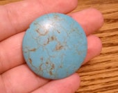 RESERVED (Margaret Woodward) 34mm Magnesite Puffed Coin - 10 bead