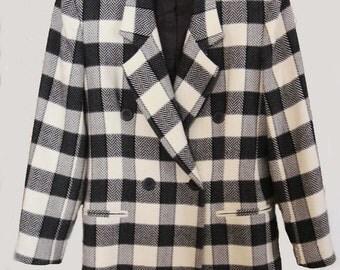 Vintage Petite Check Jacket