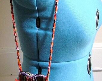 Bulgarian Hand Woven Coin Bag Purse