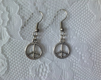 Peace Earrings: REDUCED