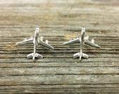 14kt or Silver Jet Plane Earrings