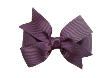 3 inch brown hair bow - brown bow, toddler bow