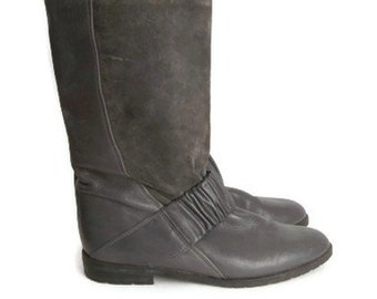 Vintage Boots Women Grey Size 36 or 6