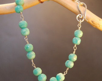 Russian Amazonite Beaded Bracelet 8