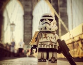 LEGO-01 Star Wars Stormtrooper NYC Brooklyn Bridge Poster Print