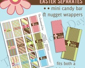 PRINTABLE Easter - Mini or Nugget Candy Bar Wrappers - He Is Risen - INSTANT DOWNLOAD