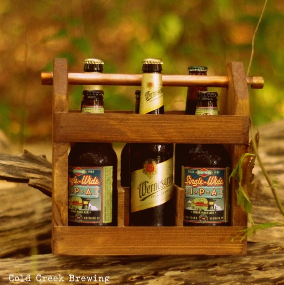 Best Man Gift - Wooden Six Pack Carton - Beer - Beer Caddy - Husband Gift - Gift for Dad - Groomsmen Gift